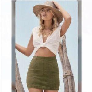 Free people army mini skirt